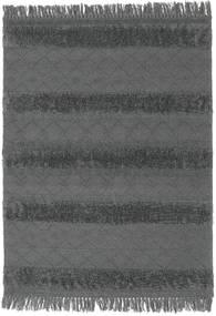 Kilim Berber Ibiza - Cinzento Claro Tapete 140X200 Moderno Tecidos À Mão Preto/Azul (Lã, Índia)