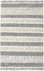 Kilim Berber Ibiza - Preto E Branco Tapete 200X300 Moderno Tecidos À Mão Cinzento Claro/Cinza Escuro/Bege Escuro (Lã, Índia)