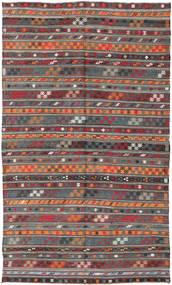 Kilim Turquia Tapete 180X303 Oriental Tecidos À Mão Vermelho Escuro/Cinza Escuro (Lã, Turquia)