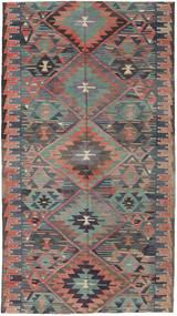 Kilim Turquia Tapete 163X292 Oriental Tecidos À Mão Cinza Escuro/Castanho Claro (Lã, Turquia)