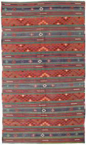 Kilim Turquia Tapete 170X296 Oriental Tecidos À Mão Vermelho Escuro/Verde Escuro (Lã, Turquia)
