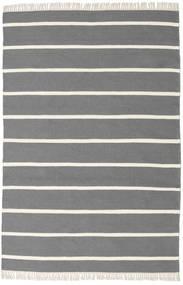 Dhurrie Stripe - Cinzento Tapete 140X200 Moderno Tecidos À Mão Cinza Escuro/Bege (Lã, Índia)