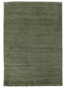 Handloom Fringes - Verde Floresta Tapete 160X230 Moderno Verde Escuro/Verde Escuro (Lã, Índia)