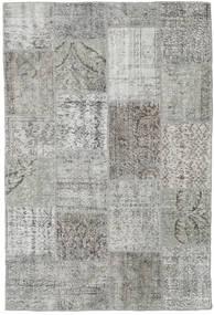 Patchwork Tapete 156X234 Moderno Feito A Mão Cinzento Claro/Cinza Escuro (Lã, Turquia)