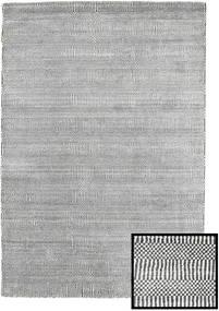 Bambu Grass - Black_ Cinzento Tapete 120X180 Moderno Cinzento Claro/Cinza Escuro (Lã/Bamboo Seda, Turquia)