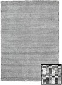 Bambu Grass - Black_ Cinzento Tapete 140X200 Moderno Cinzento Claro/Cinza Escuro (Lã/Bamboo Seda, Turquia)