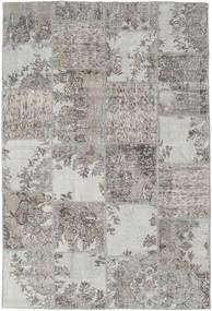 Patchwork Tapete 157X234 Moderno Feito A Mão Cinzento Claro (Lã, Turquia)