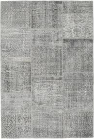 Patchwork Tapete 157X233 Moderno Feito A Mão Cinzento Claro/Cinza Escuro (Lã, Turquia)