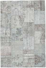 Patchwork Tapete 159X234 Moderno Feito A Mão Cinzento Claro/Azul Turquesa (Lã, Turquia)