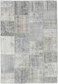 Patchwork Tapete 158X231 Moderno Feito A Mão Cinzento Claro/Azul Turquesa (Lã, Turquia)