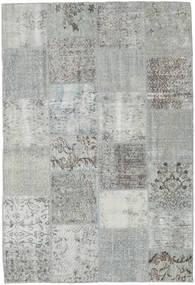 Patchwork Tapete 157X230 Moderno Feito A Mão Cinzento Claro/Azul Turquesa (Lã, Turquia)