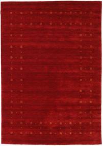 Loribaf Loom Delta - Vermelho Tapete 160X230 Moderno Vermelho Escuro/Castanho Alaranjado (Lã, Índia)