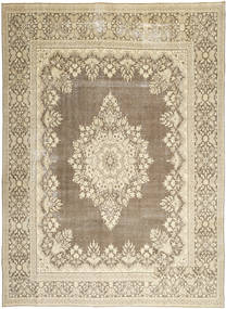 Kerman Patina Tapete 285X388 Oriental Feito A Mão Cinzento Claro/Bege Grande (Lã, Pérsia/Irão)