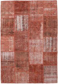 Patchwork Tapete 158X232 Moderno Feito A Mão Vermelho Escuro (Lã, Turquia)