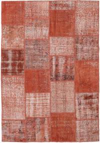 Patchwork Tapete 154X223 Moderno Feito A Mão Vermelho Escuro/Vermelho (Lã, Turquia)