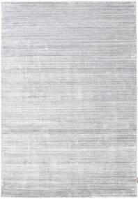 Bambu Seda Loom - Cinzento Tapete 160X230 Moderno Branco/Creme/Cinzento Claro ( Índia)
