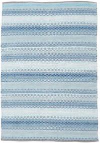 Wilma - Azul Tapete 120X180 Moderno Tecidos À Mão Azul Claro/Bege (Algodão, Índia)