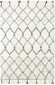 Sauda - Natural Cinzento Tapete 120X180 Moderno Feito A Mão Bege/Branco/Creme (Lã, Índia)