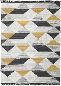 Isha - Dourado Tapete 250X350 Moderno Tecidos À Mão Cinzento Claro/Cinza Escuro Grande (Lã, Índia)