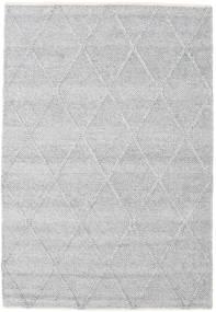 Svea - Cinzento Prateado Tapete 140X200 Moderno Tecidos À Mão Cinzento Claro/Branco/Creme (Lã, Índia)