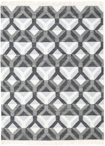 Aino Tapete 140X200 Moderno Tecidos À Mão Cinza Escuro/Bege/Cinzento Claro (Lã/Bamboo Seda, Índia)