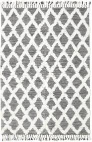 Inez - Castanho Escuro/Branco Tapete 160X230 Moderno Tecidos À Mão Bege/Cinzento Claro (Lã, Índia)