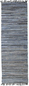 Sonja Mix - Denim/Jute Tapete 80X250 Moderno Tecidos À Mão Tapete Passadeira Cinza Escuro/Azul Claro (Tapete Jute Índia)