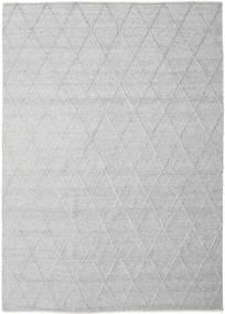 Svea - Cinzento Prateado Tapete 250X350 Moderno Tecidos À Mão Cinzento Claro/Branco/Creme Grande (Lã, Índia)
