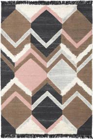 Silvana - Soft Rosa Tapete 160X230 Moderno Tecidos À Mão Cinza Escuro/Castanho/Cinzento Claro (Lã, Índia)
