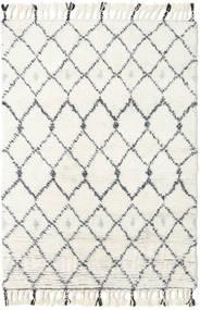 Sauda - Natural Cinzento Tapete 160X230 Moderno Feito A Mão Bege/Branco/Creme (Lã, Índia)