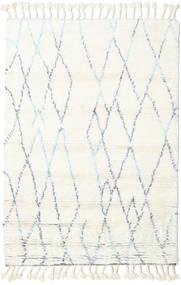 Rana - Natural/Azul Tapete 160X230 Moderno Feito A Mão Bege/Branco/Creme (Lã, Índia)
