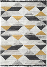 Isha - Dourado Tapete 200X300 Moderno Tecidos À Mão Cinzento Claro/Cinza Escuro (Lã, Índia)