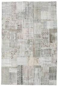 Patchwork Tapete 202X301 Moderno Feito A Mão Cinzento Claro (Lã, Turquia)