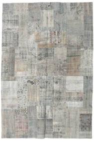 Patchwork Tapete 201X300 Moderno Feito A Mão Cinzento Claro/Cinza Escuro (Lã, Turquia)