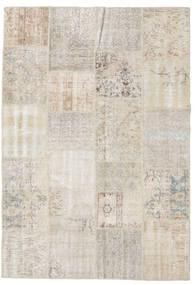 Patchwork Tapete 159X230 Moderno Feito A Mão Cinzento Claro (Lã, Turquia)
