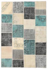 Patchwork Tapete 160X232 Moderno Feito A Mão Bege/Verde Escuro (Lã, Turquia)