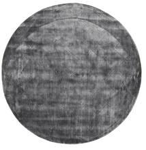 Brooklyn - Stormy Grey Tapete Ø 200 Moderno Redondo Cinza Escuro/Cinzento Claro ( Índia)