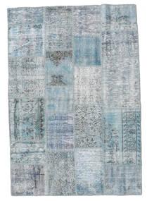 Patchwork Tapete 139X201 Moderno Feito A Mão Azul Claro/Cinzento Claro (Lã, Turquia)