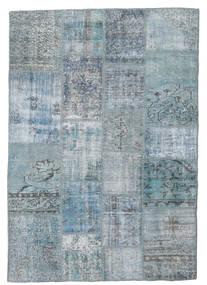 Patchwork Tapete 139X201 Moderno Feito A Mão Azul Claro/Cinzento Claro/Azul (Lã, Turquia)
