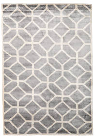 Palace Tapete 170X240 Moderno Feito A Mão Cinzento Claro/Branco/Creme ( Índia)