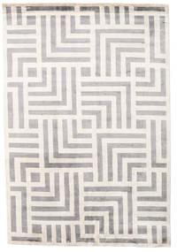 Maze Tapete 170X240 Moderno Feito A Mão Cinzento Claro/Bege ( Índia)