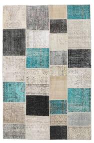Patchwork Tapete 198X303 Moderno Feito A Mão Cinzento Claro/Cinza Escuro (Lã, Turquia)