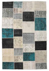 Patchwork Tapete 197X301 Moderno Feito A Mão Cinzento Claro/Cinza Escuro (Lã, Turquia)