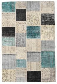 Patchwork Tapete 197X300 Moderno Feito A Mão Cinzento Claro/Bege Escuro (Lã, Turquia)