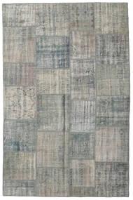 Patchwork Tapete 200X303 Moderno Feito A Mão Cinzento Claro/Verde Escuro (Lã, Turquia)