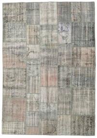 Patchwork Tapete 205X294 Moderno Feito A Mão Cinzento Claro/Cinza Escuro (Lã, Turquia)