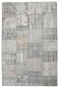 Patchwork Tapete 197X298 Moderno Feito A Mão Cinzento Claro (Lã, Turquia)