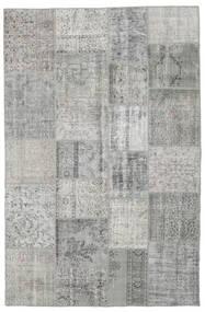 Patchwork Tapete 197X301 Moderno Feito A Mão Cinzento Claro (Lã, Turquia)