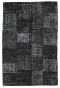 Patchwork Tapete 198X302 Moderno Feito A Mão Preto/Cinza Escuro (Lã, Turquia)