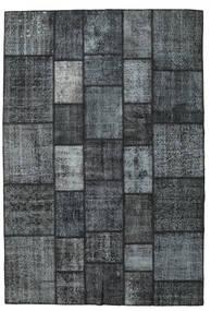 Patchwork Tapete 203X300 Moderno Feito A Mão Azul Escuro/Cinza Escuro/Cinzento Claro (Lã, Turquia)